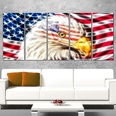 Land of the Free Eagle Metal Wall Art