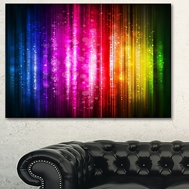 Glowing Background Abstract Metal Wall Art, 28x12, (MT6023-28-12)