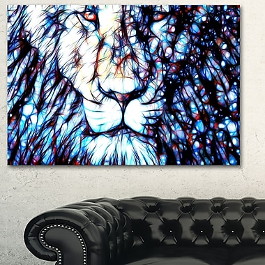 Leader of the Pack Lion Metal Wall Art, 28x12, (MT2406-28-12)