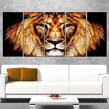 Hear Him Roar Lion, art mural en métal, 60 x 28, 5 panneaux (MT2437-401)