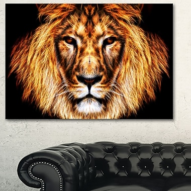 Hear Him Roar Lion Metal Wall Art, 28x12, (MT2437-28-12)