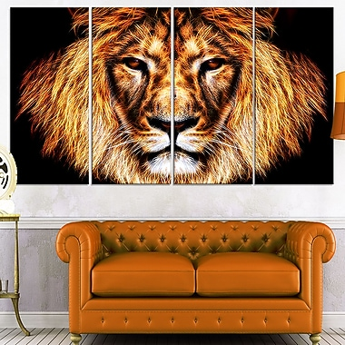 Hear Him Roar Lion Metal Wall Art, 48x28, 4 Panels, (MT2437-271)