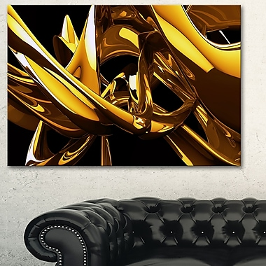 Molten Gold Abstract Metal Wall Art, 28x12, (MT3023-28-12)