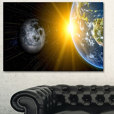 Sun Moon and Earth Our Worlds Metal Wall Art