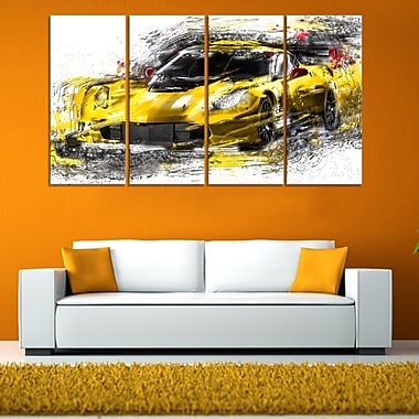 Black and Yellow Speedster Metal Wall Art, 48x28, 4 Panels, (MT2639-271)
