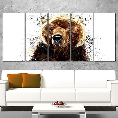 Brown Bear Animal Metal Wall Art