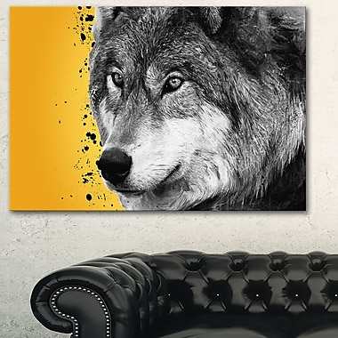 Gazing Wolf Animal Metal Wall Art, 28x12, (MT2305-28-12)