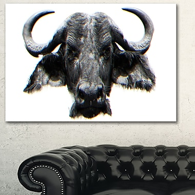 Stare of the Bull Animal Metal Wall Art, 28x12, (MT2309-28-12)