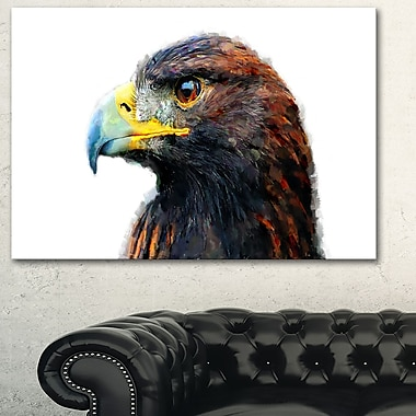 Golden Eagle Animal Metal Wall Art, 28x12, (MT2311-28-12)