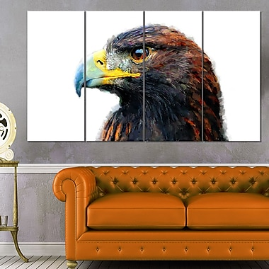 Golden Eagle Animal Metal Wall Art, 48x28, 4 Panels, (MT2311-271)