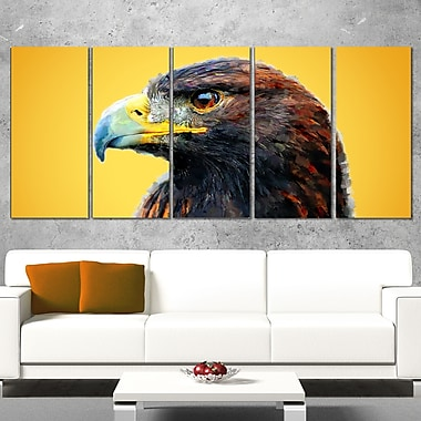 Golden Eagle Animal, art mural en métal, 60 x 28, 5 panneaux (MT2312-401)