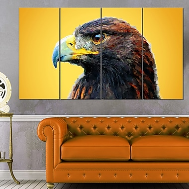 Golden Eagle Animal Metal Wall Art, 48x28, 4 Panels, (MT2312-271)