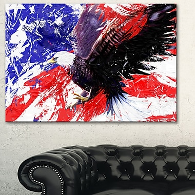 American Bald Eagle Animal Metal Wall Art, 28x12, (MT2313-28-12)