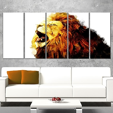 Roaring Lion Animal Metal Wall Art