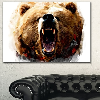 Warning Roar Animal Metal Wall Art, 28x12, (MT2318-28-12)
