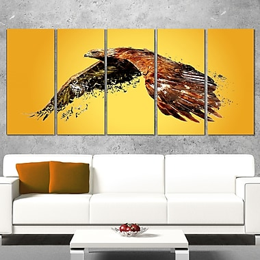 Soaring Eagle Animal Metal Wall Art, 60x28, 5 Panels, (MT2320-401)