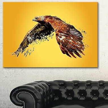 Soaring Eagle Animal Metal Wall Art, 28x12, (MT2320-28-12)
