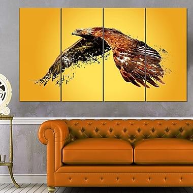 Art mural en métal à thème animal, aigle en hauteur, 48 x 28, 4 panneaux (MT2320-271)