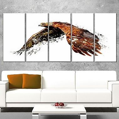 Soaring Eagle Animal Metal Wall Art, 60x28, 5 Panels, (MT2321-401)
