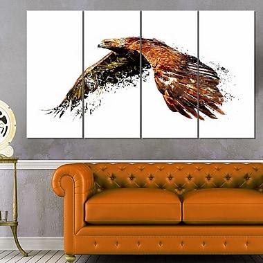 Soaring Eagle Animal Metal Wall Art, 48x28, 4 Panels, (MT2321-271)