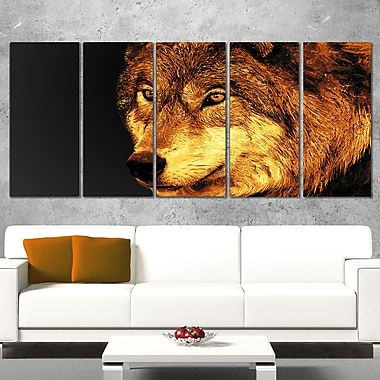 Eyes of a Predator Animal Metal Wall Art, 60x28, 5 Panels, (MT2323-401)