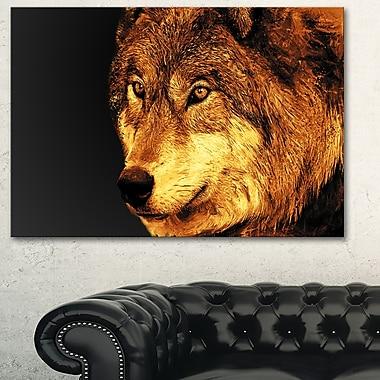 Art mural en métal à thème animal, yeux de prédateur, 28 x 12 (MT2323-28-12)
