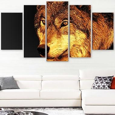 Eyes of a Predator Animal Metal Wall Art, 60x32, 5 Panels, (MT2323-373)