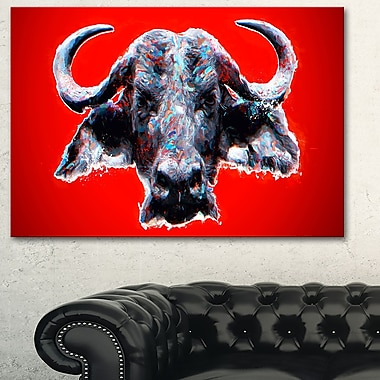 Angry Bull Animal Metal Wall Art, 28x12, (MT2324-28-12)