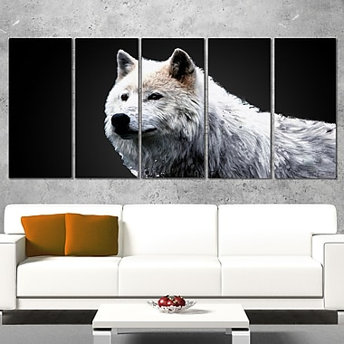 Wonder of the Wolf Animal Metal Wall Art, 60x28, 5 Panels, (MT2329-401)