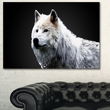 Wonder of the Wolf Animal Metal Wall Art, 28x12, (MT2329-28-12)