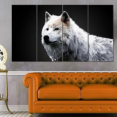 Art mural en métal, merveille du loup, 48 x 28, 4 panneaux (MT2329-271)