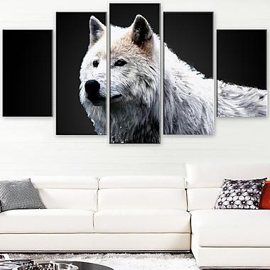 Art mural en métal, merveille du loup, 60 x 32, 5 panneaux (MT2329-373)