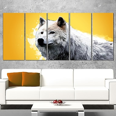 Wonder of the Wolf Animal Metal Wall Art