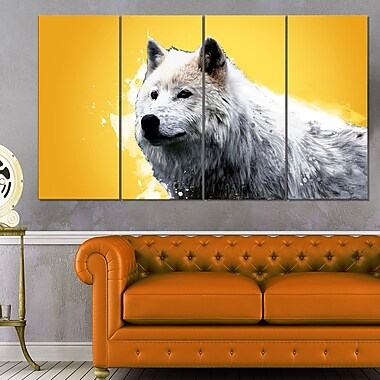 Wonder of the Wolf Animal Metal Wall Art, 48x28, 4 Panels, (MT2330-271)