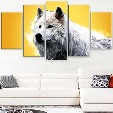 Wonder of the Wolf Animal Metal Wall Art, 60x32, 5 Panels, (MT2330-373)
