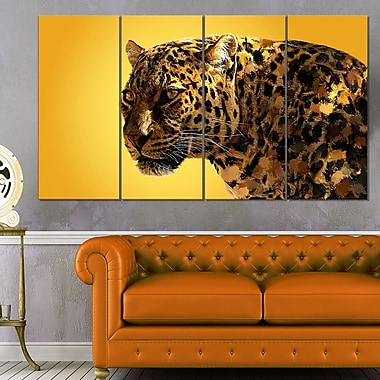 Spotted You Animal Metal Wall Art, 48x28, 4 Panels, (MT2331-271)