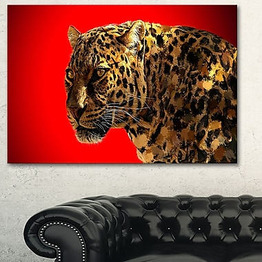 Spotted You Animal Metal Wall Art, 28x12, (MT2332-28-12)