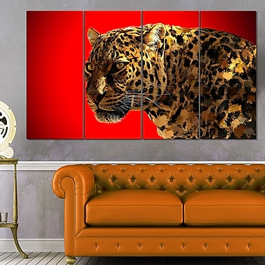 Spotted You Animal Metal Wall Art, 48x28, 4 Panels, (MT2332-271)