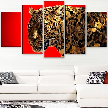 Spotted You Animal Metal Wall Art, 60x32, 5 Panels, (MT2332-373)