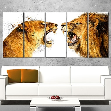 Lion Argument Animal Metal Wall Art