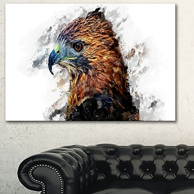 Hawk Eye Animal Metal Wall Art, 28x12, (MT2337-28-12)