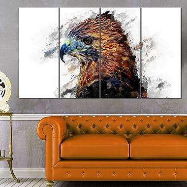 L'œil de l'aigle art mural animal en métal, 48 x 28, 4 panneaux (MT2337-271)