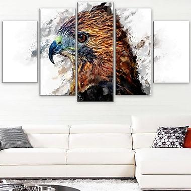 Hawk Eye Animal Metal Wall Art, 60x32, 5 Panels, (MT2337-373)