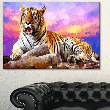 King of Tigers Animal Metal Wall Art, 28x12, (MT2339-28-12)