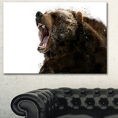 Beware of the Bear Animal Metal Wall Art, 28x12, (MT2341-28-12)