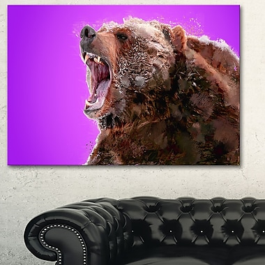 Beware of the Bear Animal Metal Wall Art, 28x12, (MT2343-28-12)