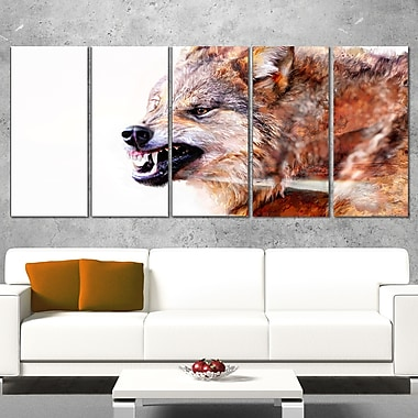 Snarling Wolf Animal Metal Wall Art