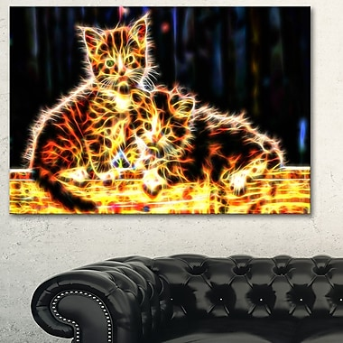 Vivid Kittens Animal Metal Wall Art, 28x12, (MT2352-28-12)