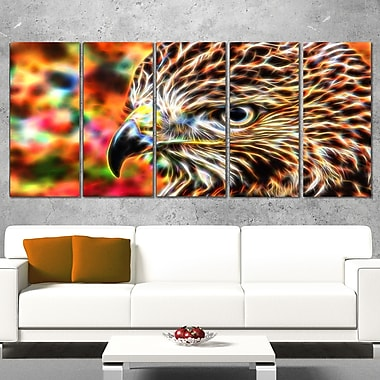 Vibrant Eagle Animal Metal Wall Art, 60x28, 5 Panels, (MT2353-401)