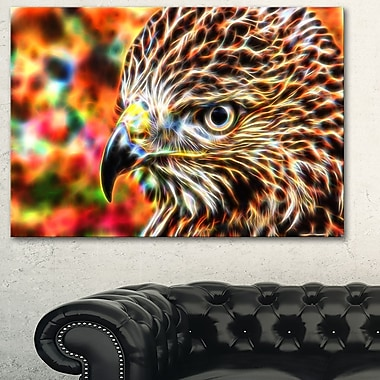 Vibrant Eagle Animal Metal Wall Art, 28x12, (MT2353-28-12)